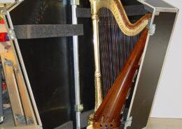 Flightcase til harpe
